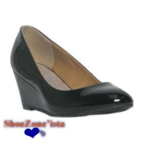 10454 Womens Black Patent Round Toe Fashion Wedge £14.99 www.shoezone.com   womens  ladies  fashion  style  spring  summer  court  shoes  patent  black    ... f2148094fe2