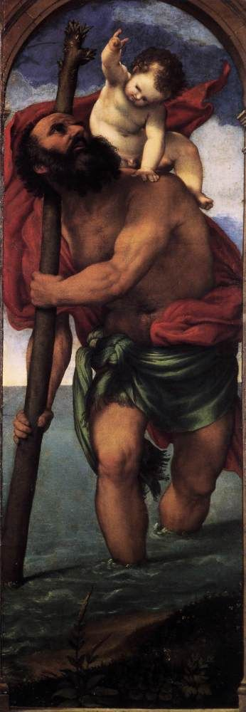 St. Christopher by Lorenzo Lotto