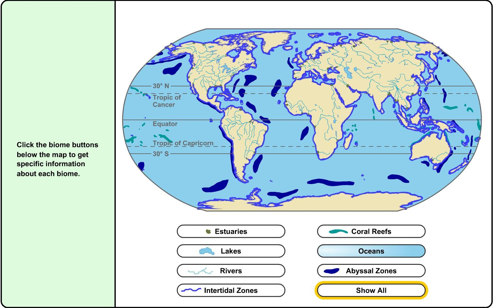 World Biome Map Worksheet
