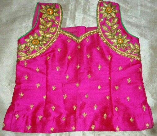a9faa59e87628 Rawsilk blouse with maggam work 7702919644