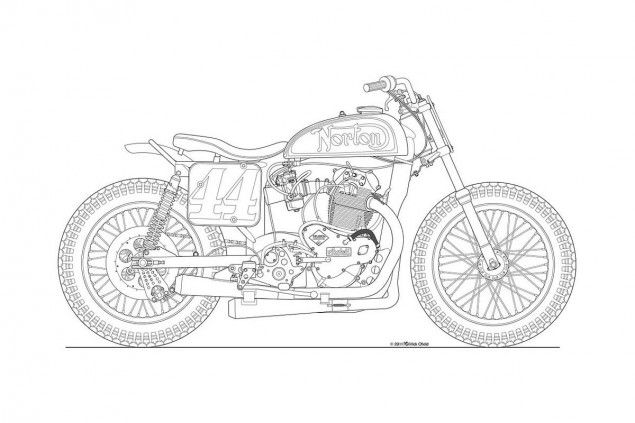 Photos Some Classic Motorcycle Line Art Drawings With Images