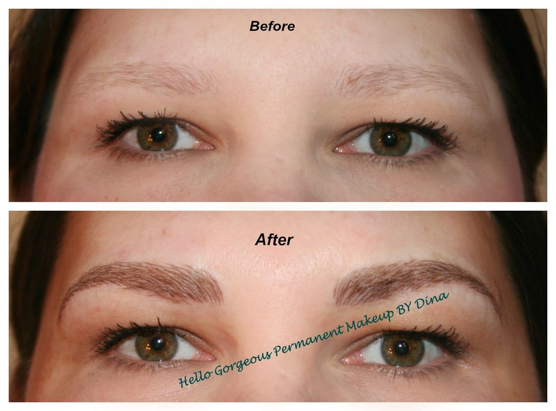 No More Sparse Eyebrows Www Permanentmakeupbydina Com With