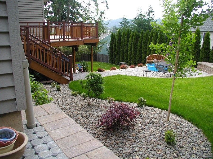 Collection In Simple Backyard Landscape Ideas Wavy Border Adds Awesome Backyard Landscape Design Collection