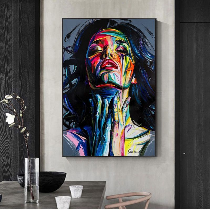 Street Graffiti Wall Art Canvas Prints Abstract Pop Art Girls Watercolor Canvas Paintings On The Wall Pictures For Home Decor Graffiti Wall Art Pop Art Canvas Wall Art Canvas Painting