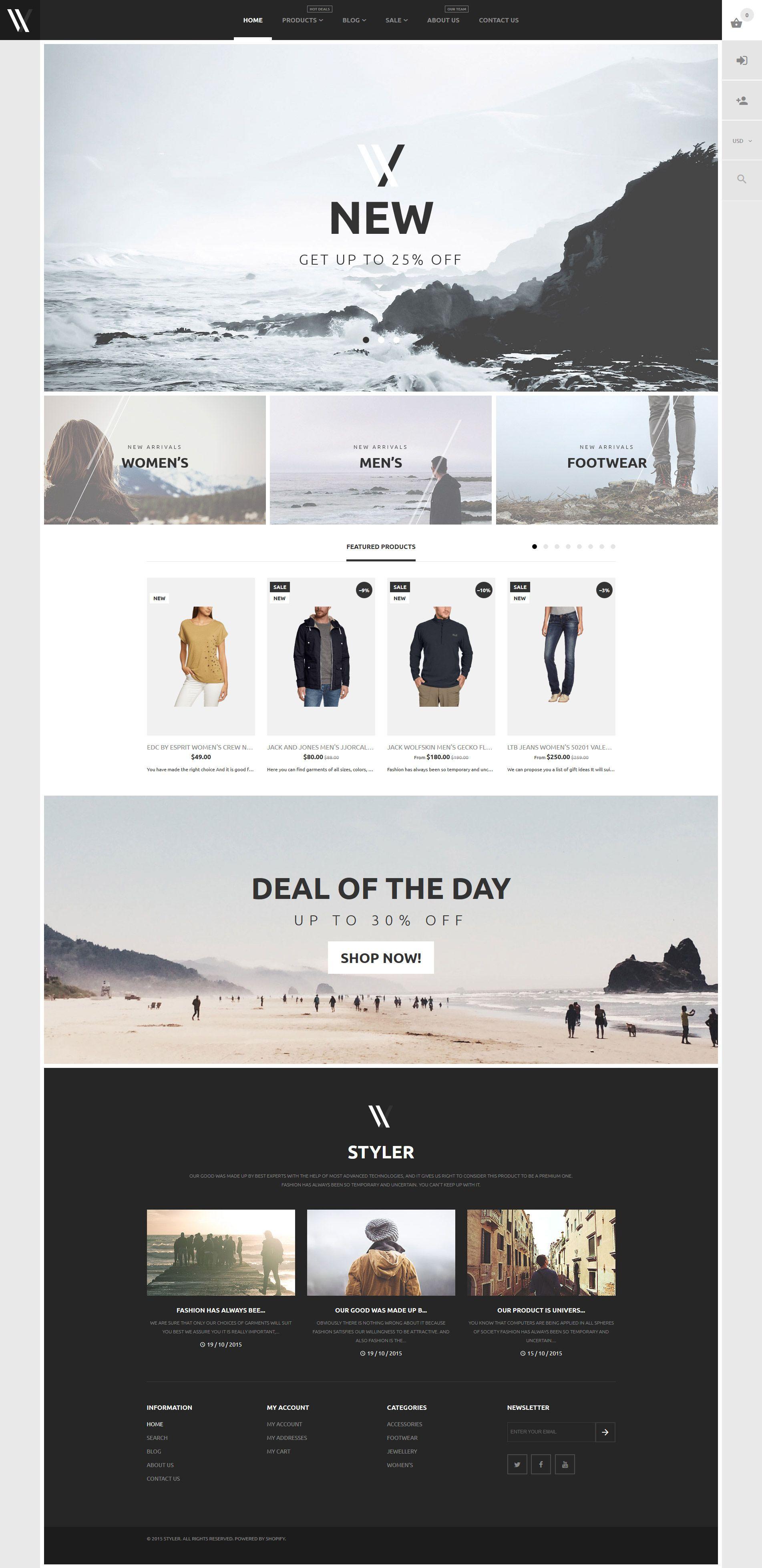 Apparel Shopify Theme 57943 Web design studio, Web
