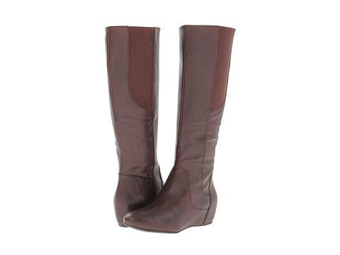 ccfc02cce8c Enzo Angiolini Deanja Wide Calf Dark Brown Leather - Zappos.com Free  Shipping BOTH Ways