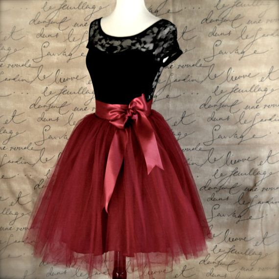 204ef9f9ea Our womens tulle skirt has layers of burgundy wine tulle over a deep wine  satin skirt. You will feel special wearing this classic ballerina