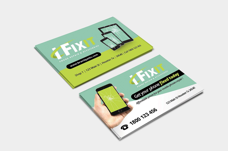 Phone Repair Shop Business Card Business Card App Phone Repair Cell Phone Repair Business