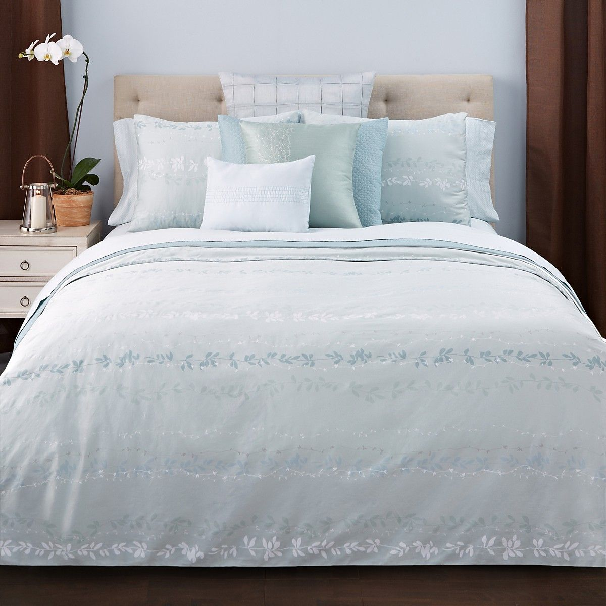 Calvin Klein Nightingale Collection Bloomingdales Client - Brown pattern bedding double duvet set calvin klein bamboo bedding