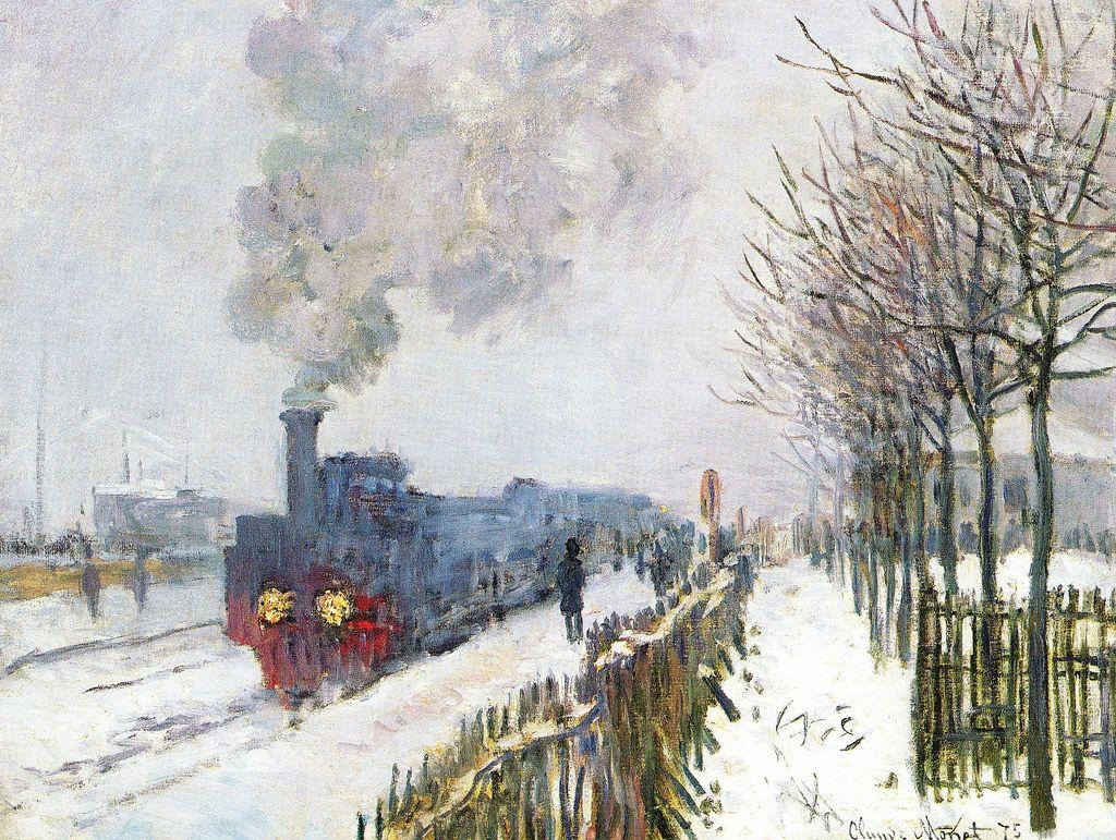Le Train dans la neige, la locomotive (C Monet - W 356) | Monet art, Claude  monet art, Claude monet paintings