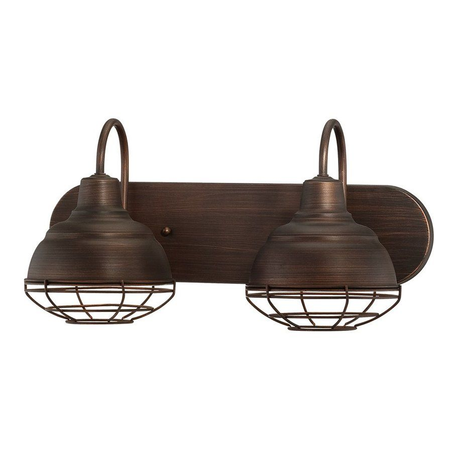 Vanity Lights Lowes Shop Millennium Lighting 2Light Neoindustrial Rubbed Bronze