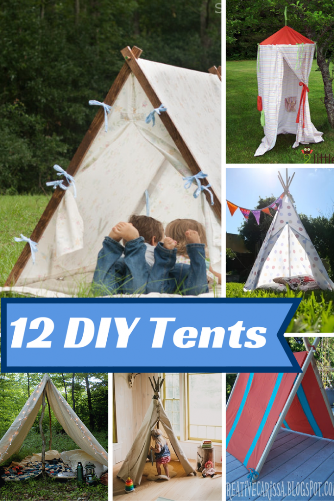 Looking for an easy way to entertain the kids? These DIY Kid's Play Tents are perfect for Indoor & Outdoor use and can be made with supplies around your home.