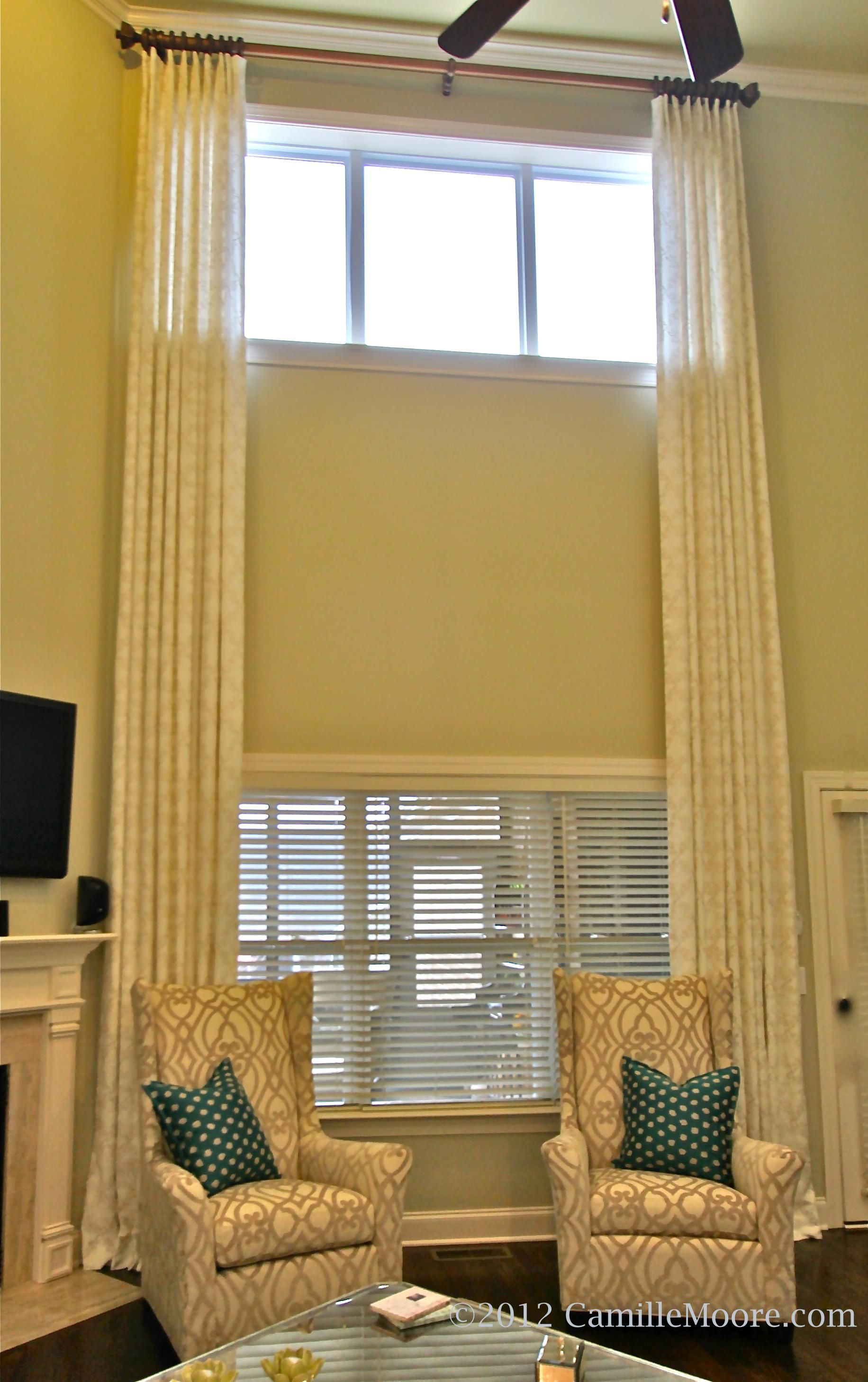 two story window treatment ideas - Google Search | Decorating our ...