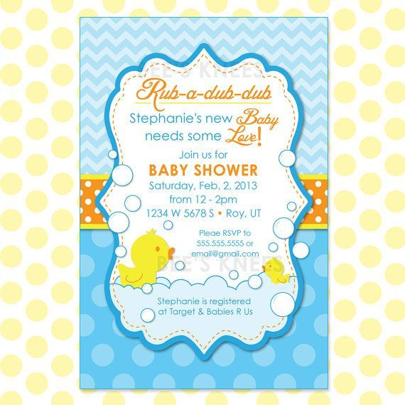 Good Cutiebabes.com Duck Baby Shower Invitations (05) #babyshower