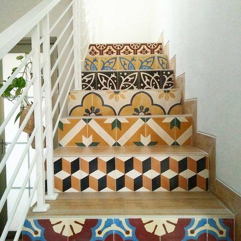 model tangga terbaru dengan keramik cantik | rumah