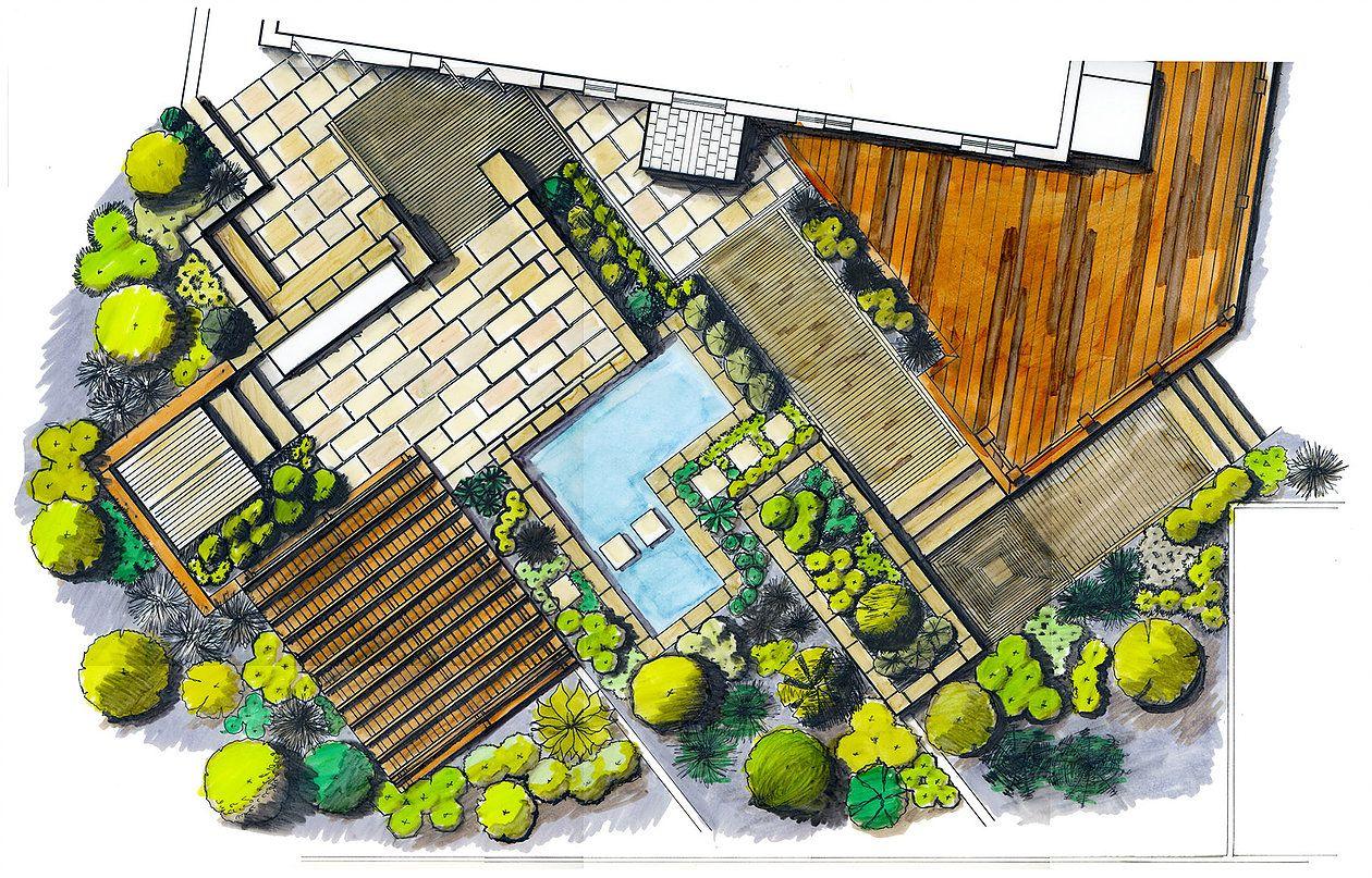 part of plan garden design