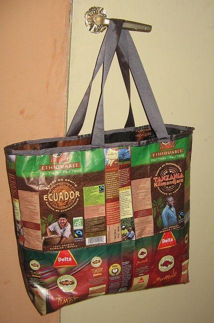 Célèbre sac en paquet de café | Travail manuel | Pinterest | Paquet, Café  DR22