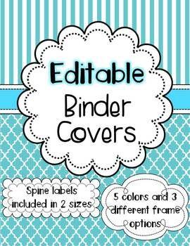 binder covers editable classroom pinterest binder covers