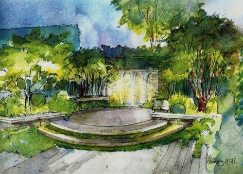 Helen Thomas Landscape Design Drawings Landscape Architecture Design Landscape Design