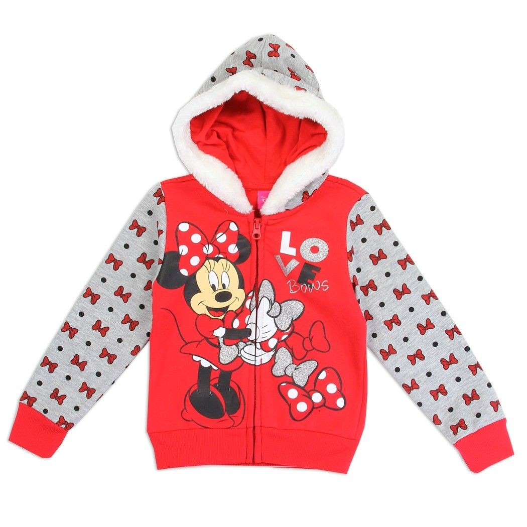 Red Disney Minnie Mouse Hoodie for Girls