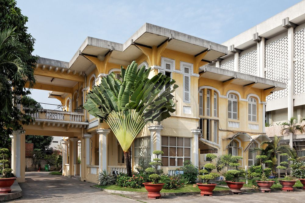 Exterior Of Old French Colonial House In Ho Chi Minh City Vietnam Southeast Asia