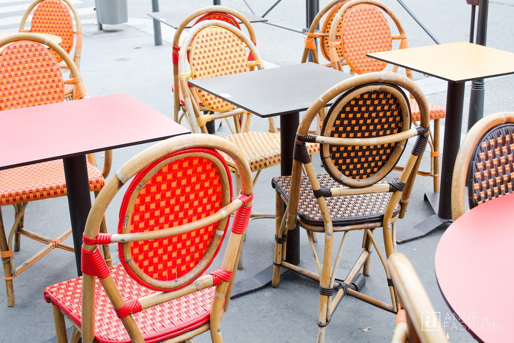 ANNE in FASHION | Wintertime In Lovely Lyon, France ~ Part One. Classic woven rattan French bistro chairs