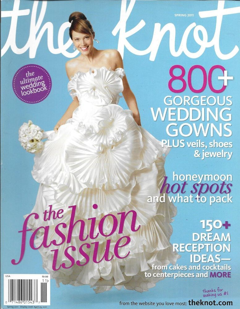 The Knot magazine The fashion issue Wedding gowns