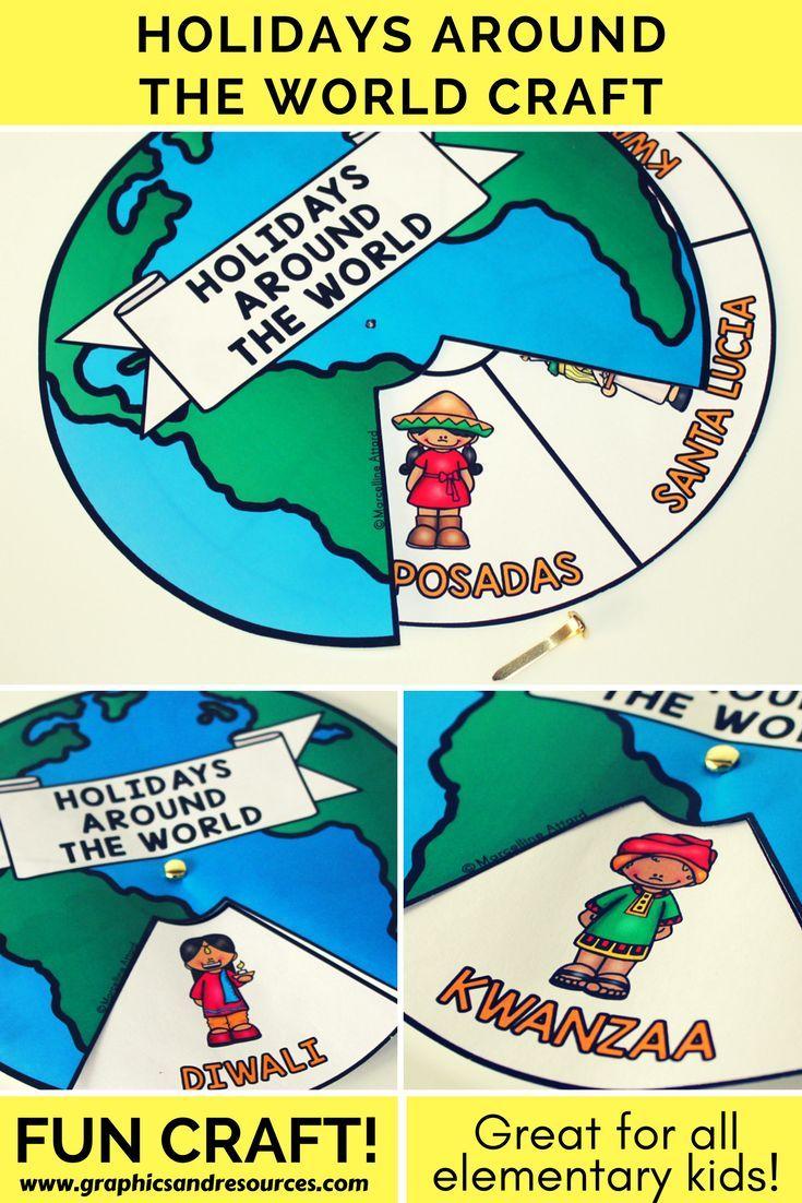 Winter holiday around the world kindergarten activities (crafts ...