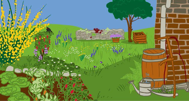 Ich sehne mich nach einem grünen und gesunden Garten, dem Hitze, Trockenheit und Starkregen nichts anhaben können - ich mache mich also an die Planung meines klimaangepassten Gartens.