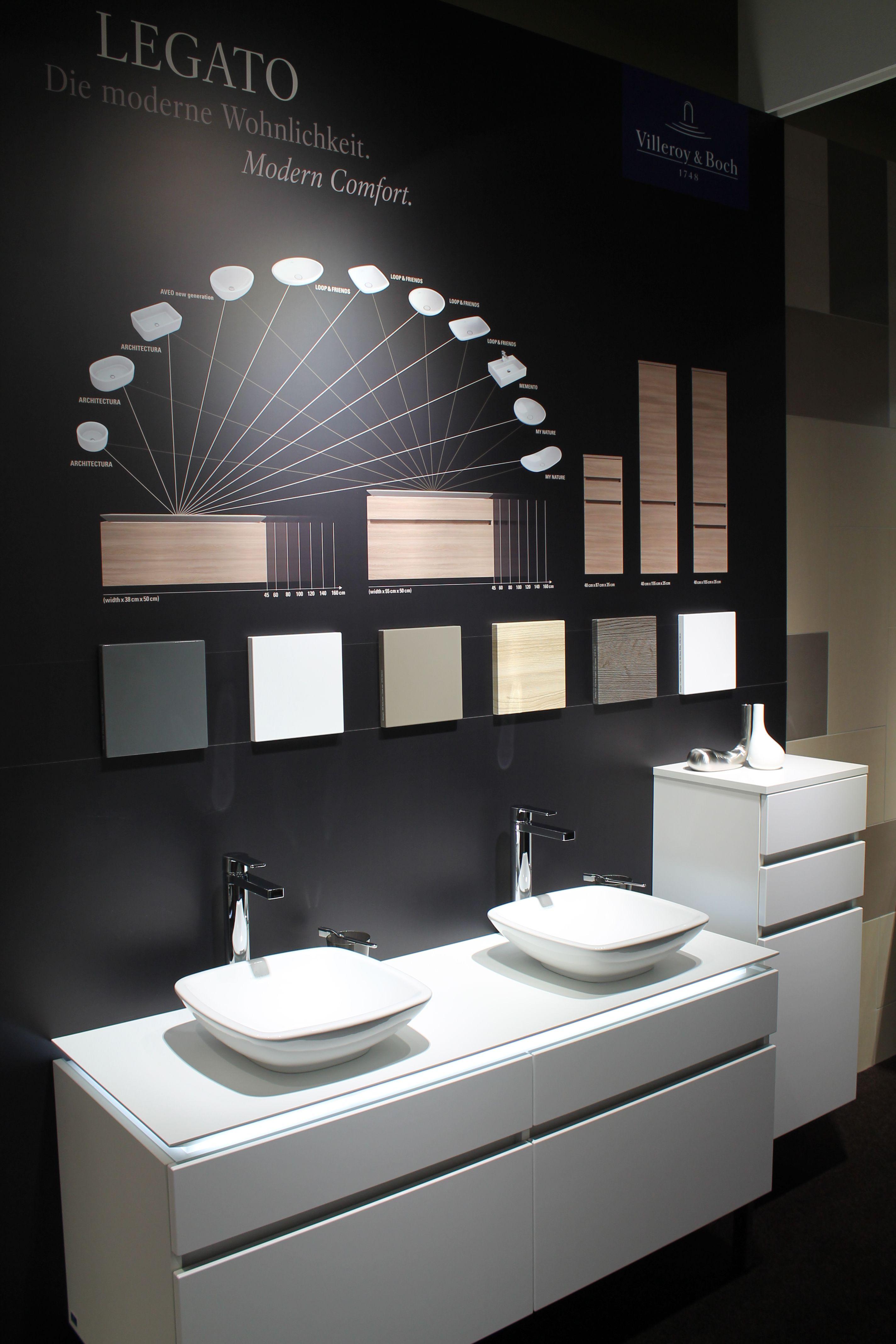 Legato Collection Featuring Loop Ish 13 Villeroy Boch Doppelwaschtisch Arbeitsplatte Modernes Badezimmer