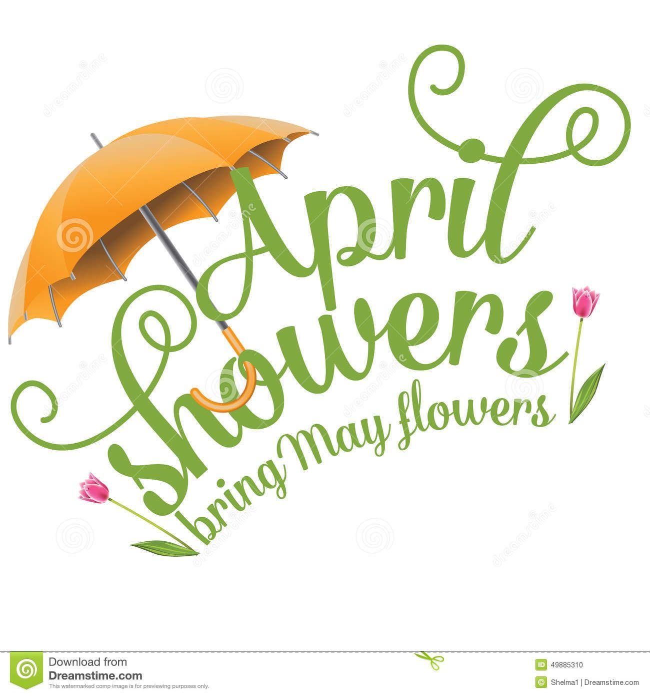 april clip art april showers bring may flowers design stock vector rh pinterest com april showers clip art borders april showers clip art pictures