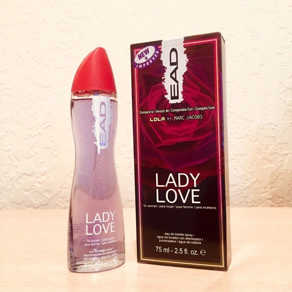091723d63817e LADY LOVE WOMENS PERFUME BY EAD EAU DE TOILETTE 2.5FL OZ 75mLe (BRAND NEW)