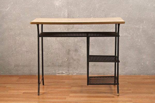 Loroman Mid Century Wrought Iron Desk