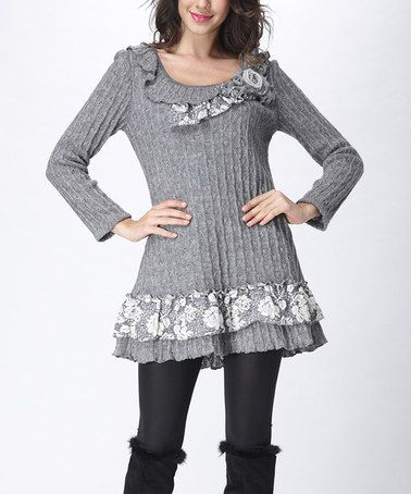 c27463c9cd Look what I found on  zulily! Gray Cable-Knit Wool-Blend Tunic  zulilyfinds