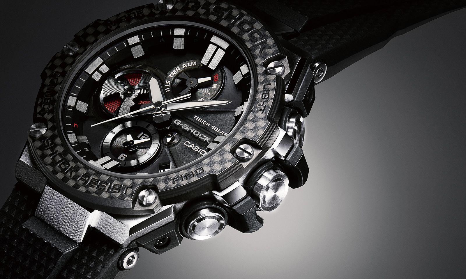 422f38beebd71 G-Shock G-STEEL GST-B100 with Carbon bezel - custom modification