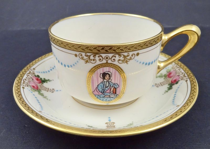 Antique Lenox Tea Cup Saucer Virginian Item 1424122 Detailed Views Tea Cups Tea Cup Saucer Tea