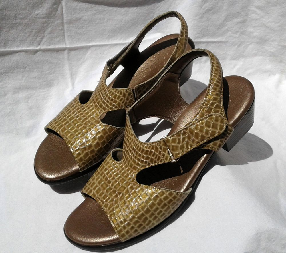 525307f9f7e9 SAS Women s Casual Low Heel Slingback Strap Sandals Gold Faux Alligator Size  8  fashion  clothing  shoes  accessories  womensshoes  sandals (ebay link)