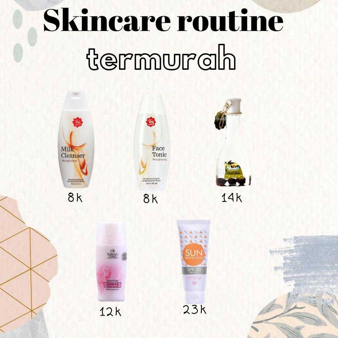 Skincare termurah gais di 2020 Produk makeup, Perawatan