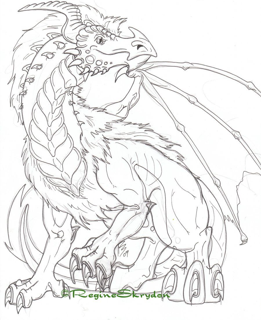 Detailed Coloring Pages For Adults Detailed Dragon Coloring