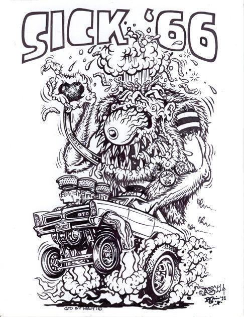 Original Monster Art Rat Fink GTO