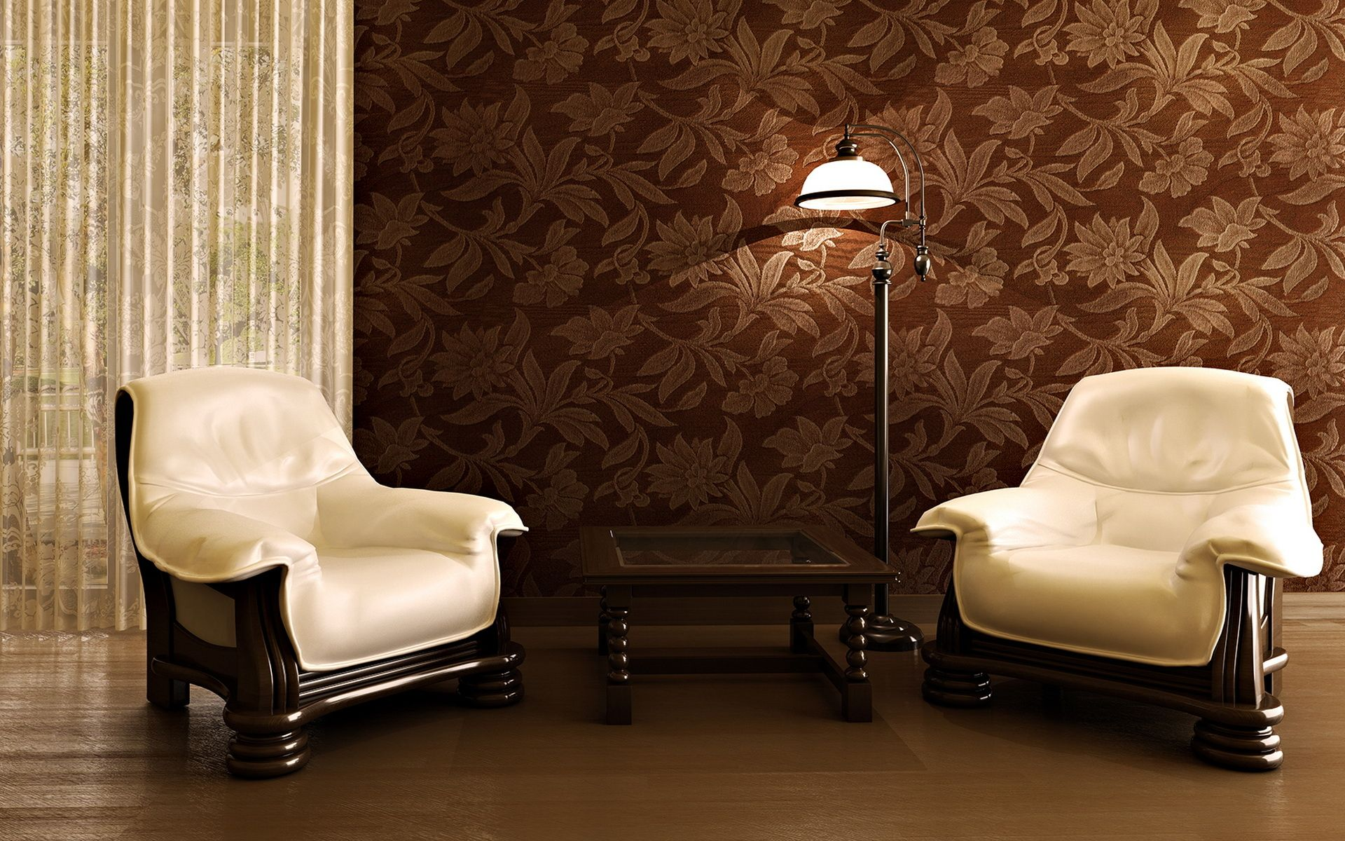 Engaging living room with wallpaper designs amusing for Yellow brown living room ideas