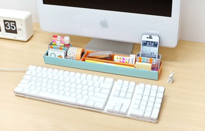 Organiser bureau girly meubles chambre idée boîtes