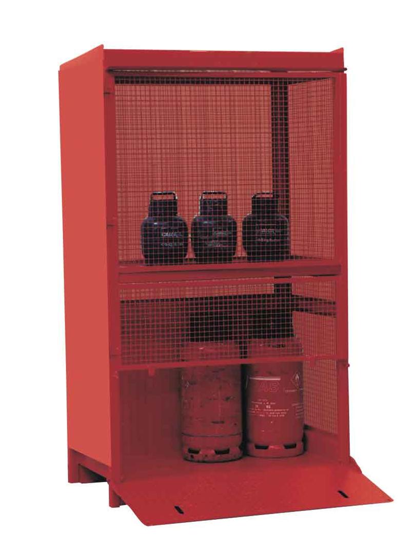 Almacenes Botellas De Gas Ct2lp Están Construidos En Acero E Incluyen Rampa Y Asas Para Las Carretillas Elevadoras Disenos De Unas Suelos Acero