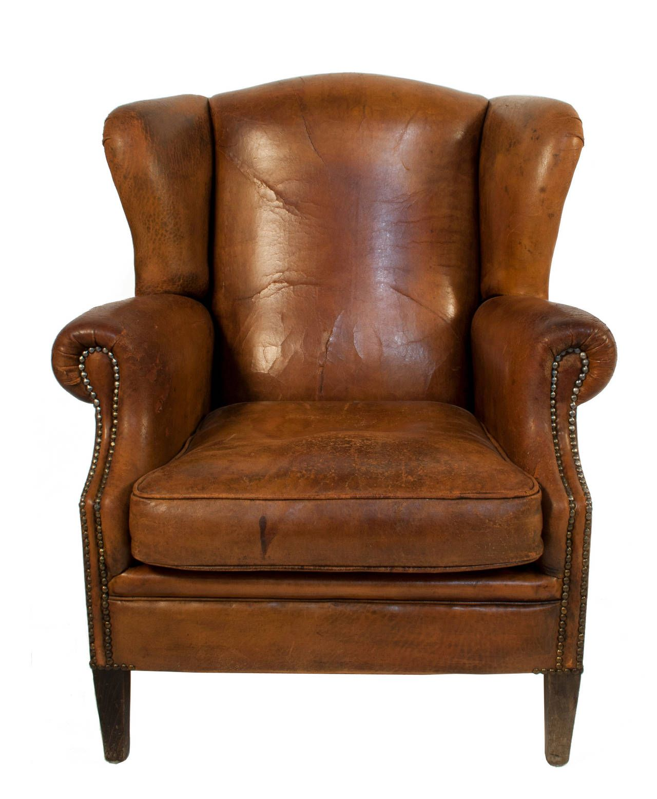 Burlington High Chair Leather Wingback Chair 1920s Curated Home Pinterest