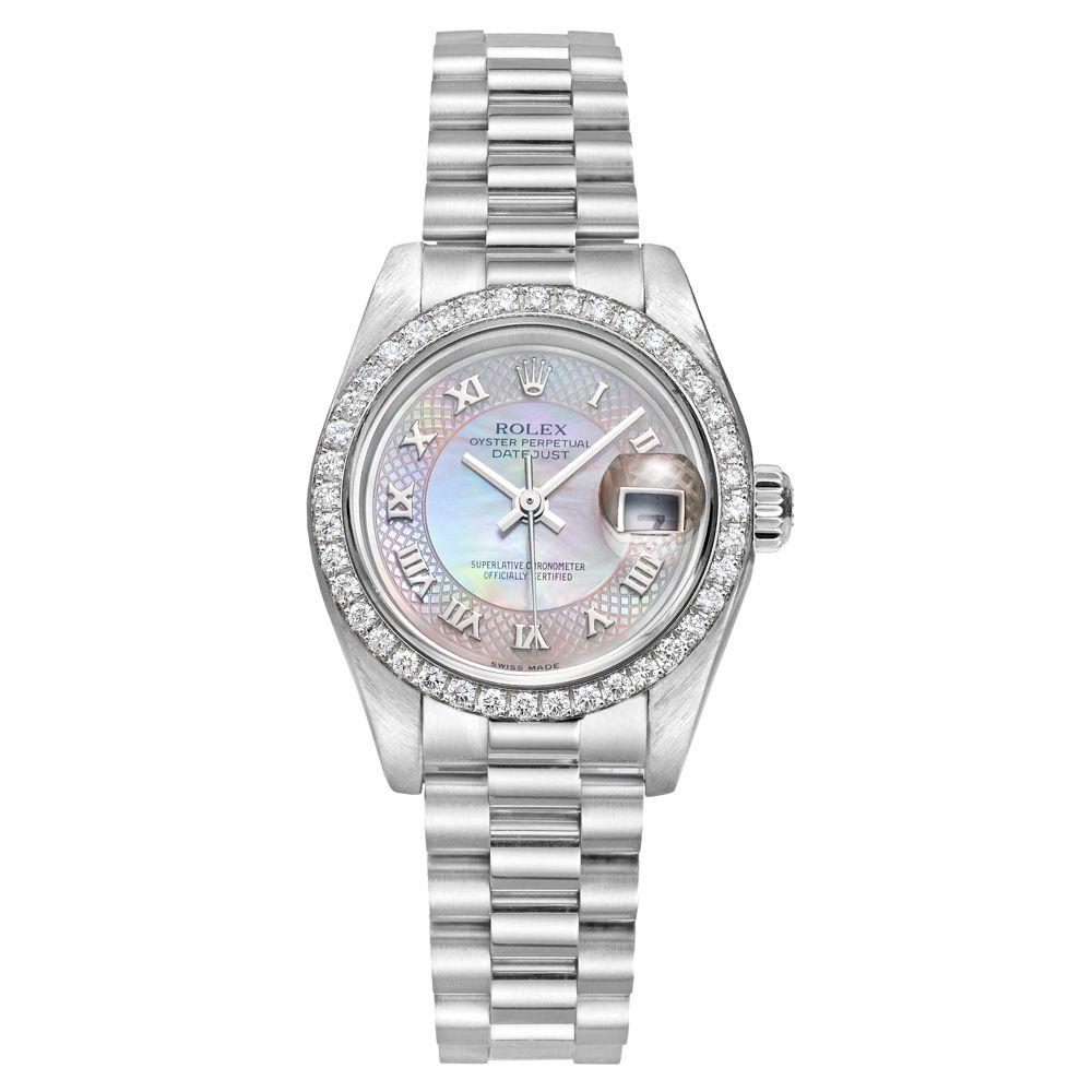 d8d56c6e597 Rolex Lady-Datejust President Automatic Platinum   Diamonds (179136 ...