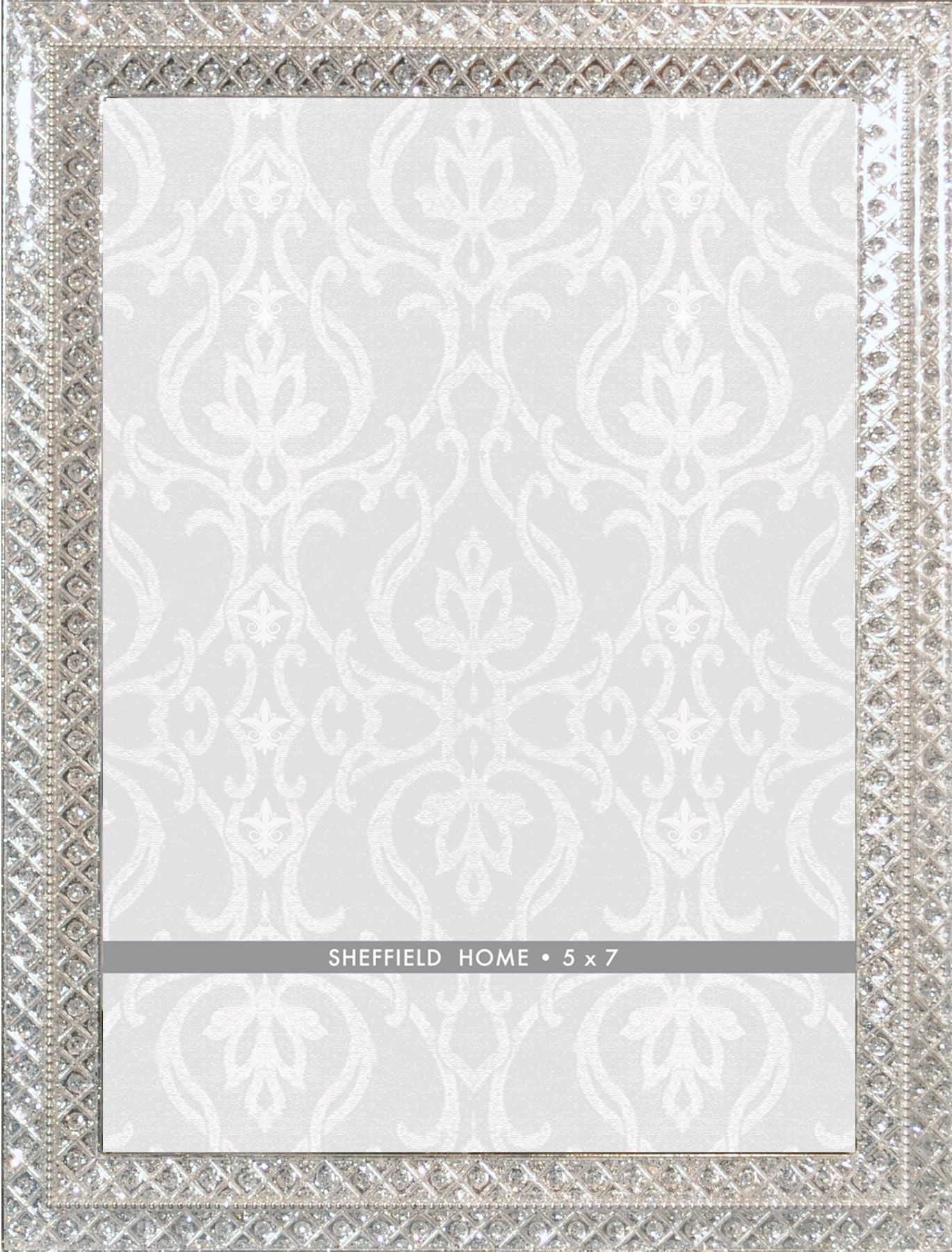 Tabletop Frame 5X7 - Silver With Jewel Chips In Border | Jewel and ...