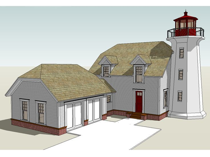 Lighthouse House Plan Coastal House Plans Beach House Plans Cape Cod House Plans
