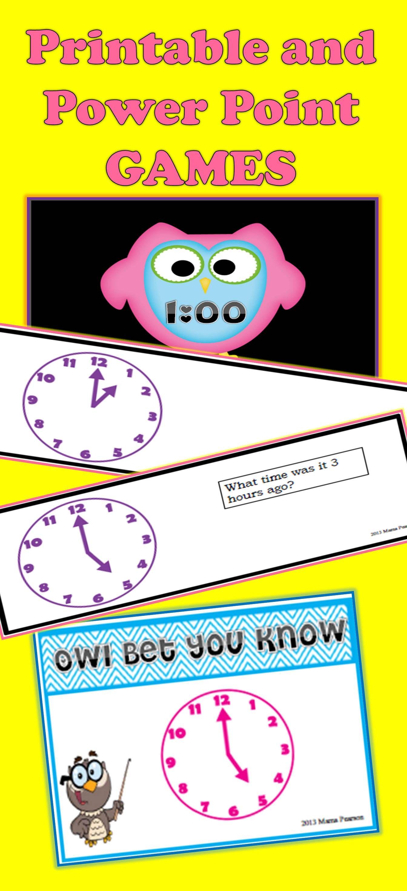 Time To The Hour Games Bundle Homeschool Math Reading Tutoring Teachers Toolbox [ 2937 x 1344 Pixel ]