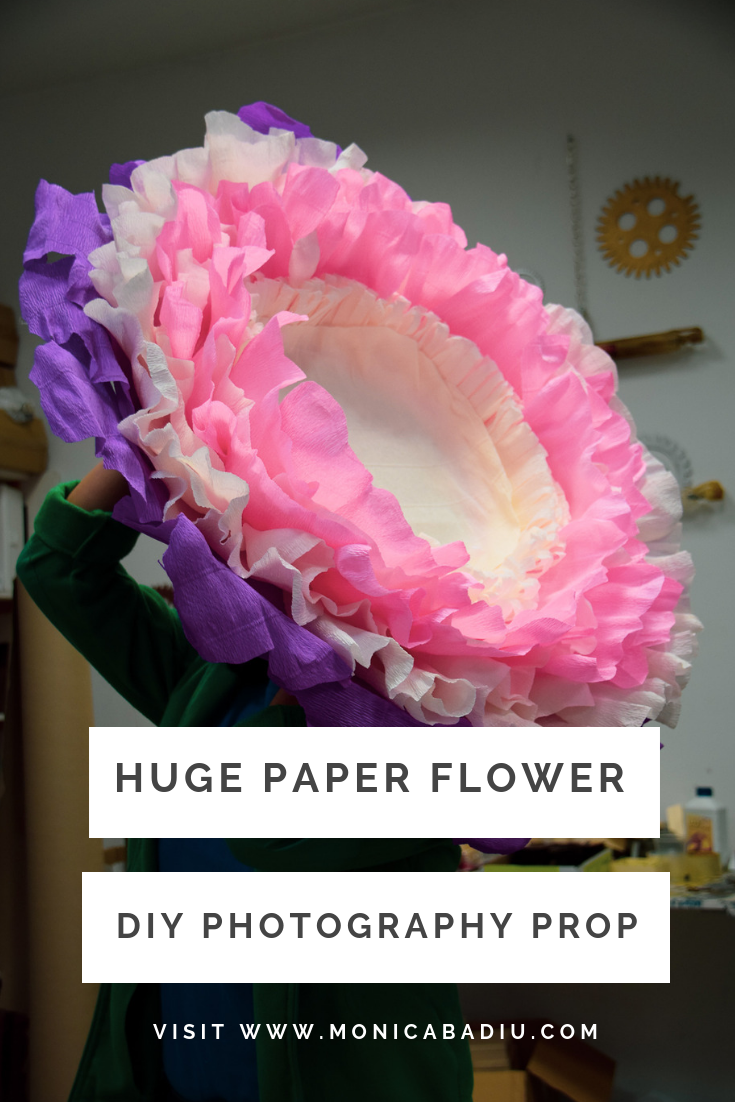 Newborn Photography Prop Huge Crepe Paper Flower Paper Flowers