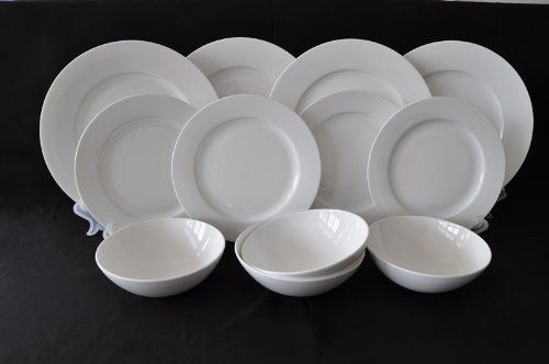 High Quality 12 Piece Belgravia White Bone China Dinner Set Waterside Fine China  Http://www